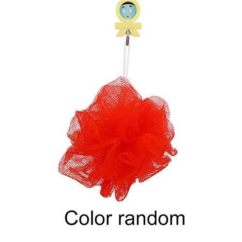 Kleine rijke luchtbellen, badkamer, badkuip, douche, lichaam reiniging mesh spons