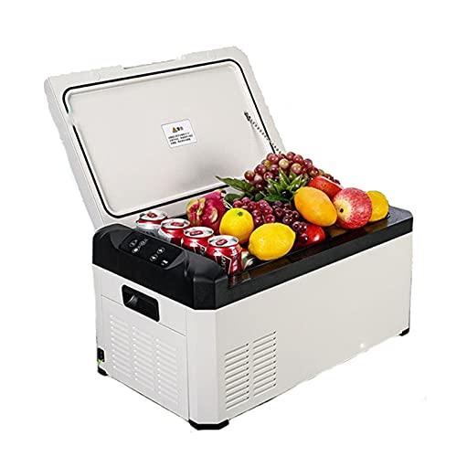 YAHAO Refrigerador Portátil para Coche,Refrigerador 22L,Congelador Portátil,Nevera de Coche,Enfriador de Compresor Eléctrico 12 / 24V DC y 100-220V AC para Exterior,Cámping,Viaje