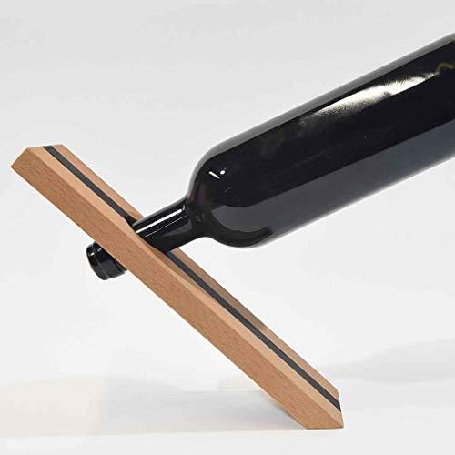Frei stehender Weinflaschenhalter, aus hochwertigen Edelhölzern handgefertigt, eine originelle Art Weinflaschen zu präsentieren - Augusto Marzolla