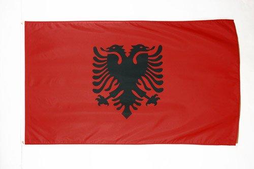 AZ FLAG Flagge ALBANIEN 150x90cm - ALBANISCHE Fahne 90 x 150 cm feiner Polyester - flaggen