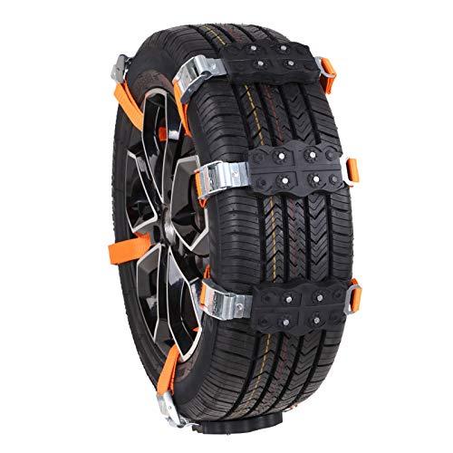 signmeili Cadena de neumáticos de Nieve de Emergencia fácil de 2 Piezas, Cadenas de neumáticos de Nieve universales, Cadena de Rueda de plástico de Emergencia Antideslizante para Coche, camión, SUV