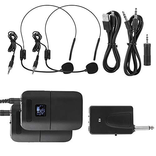 Eboxer draagbare draadloze UHF-microfoon, hoofdmicrofoon met ontvanger, draadloze microfoon voor onderwijs, economische stimulatie, podium, enz.