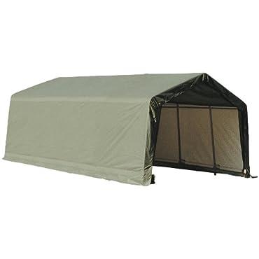 ShelterLogic 75242 Garage 15 x 28 x 12  Peak Standard Green