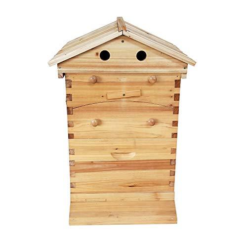 OUkANING BienenenBienenstock, Holz, Natur, Haus, einfach Zum Aufhängen, Geschenkidee für Weihnachten(Dieses Produkt enthält nur Holzhäuser)