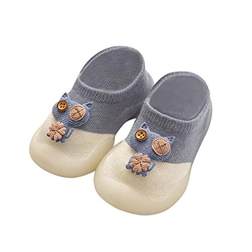 Stricken Kleinkind Schuhe Baby Jungen Mädchen Lauflernschuhe Atmungsaktive Krabbelschuhe Rutschfest Socken Schuhe Weicher Boden Bodensocken Cartoon Indoor Freizeitschuhe