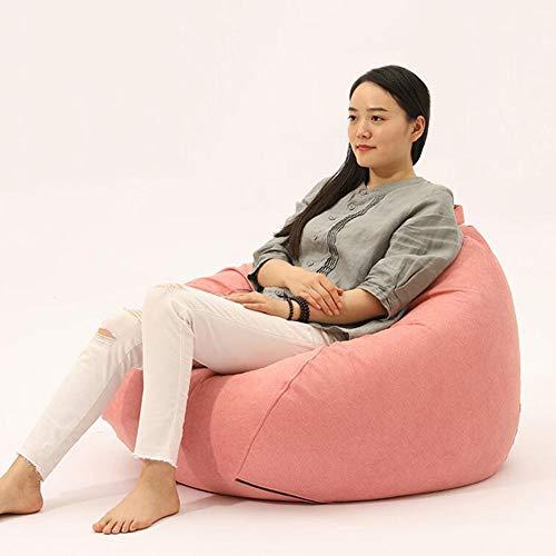 Sedie Sacchi di Fagioli Divano Lounger Beanbag Resistente all'Usura per Sale da Gioco, Lettura, Ottomano, Reclinabile ZX Casa Poltrone (Color : Pink, Size : 80x90cm)