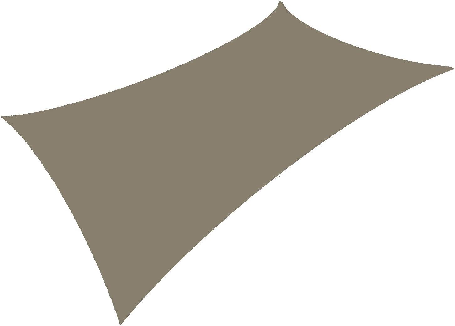 10'×13' Khaki Rectangle Waterproof Sun Los Angeles Mall Popular products UV Canopy Shade Sail Bloc