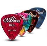 Alice Mediators Pour Guitares Et Basses 12 x Mediators En Celluloid .71mm