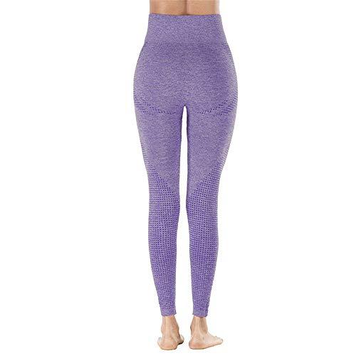 BEIXUNDIANZI Damen Hohe Taille Leggings Atmungsaktive Netzstruktur Yogahose Figurformende Joggen Fitnesshose Fitness Bewegung LaufenYoga Outdoor-Sport