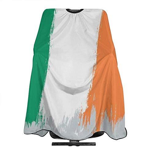 Vintage Irland-Flagge Haircut Schürze Umhang zum Haareschneiden von Haaren, Dauerwellen, Haarfärben, Haarstyling für Friseure, Kosmetikerin, Erwachsene, Frauen und Männer, 139 x 167,6 cm