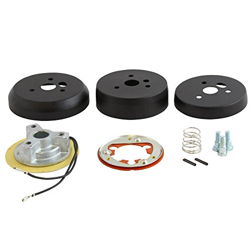 3-Hole Matte Black Hub Adapter Installation Kit B01 for Aftermarket Steering Wheels