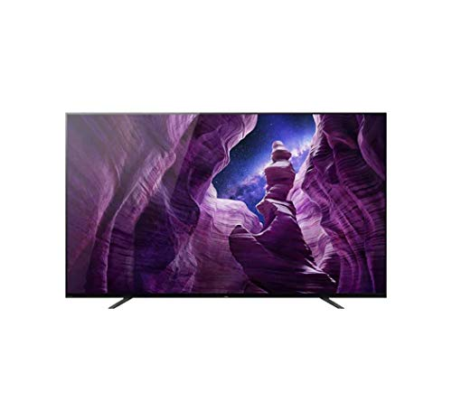 Sony KD-65A8 Bravia 164 cm ( 65 Zoll) Fernseher (Android TV, OLED, 4K Ultra HD (UHD), High Dynamic Range (HDR), Smart TV, Sprachfernbedienung, 2020 Modell), Schwarz