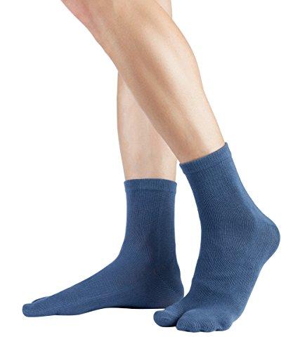Knitido Traditionals Tabi Ankle | Calcetines japoneses tabi en algodón, cortos, Talla:39-42, Colores:Azul opaco (802)