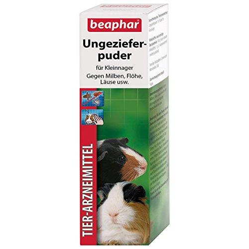 beaphar Ungezieferpuder | Mittel gegen Milben bei Kleintieren | Flohschutz | Auch zur Vorbeugung von Läusen geeignet | 30 g Dose