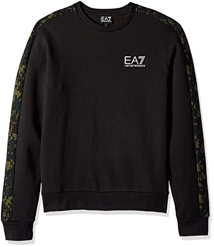 Emporio Armani Herren Train Graphic Series Camouflage Sweater Sweatshirt, schwarz, X-Groß