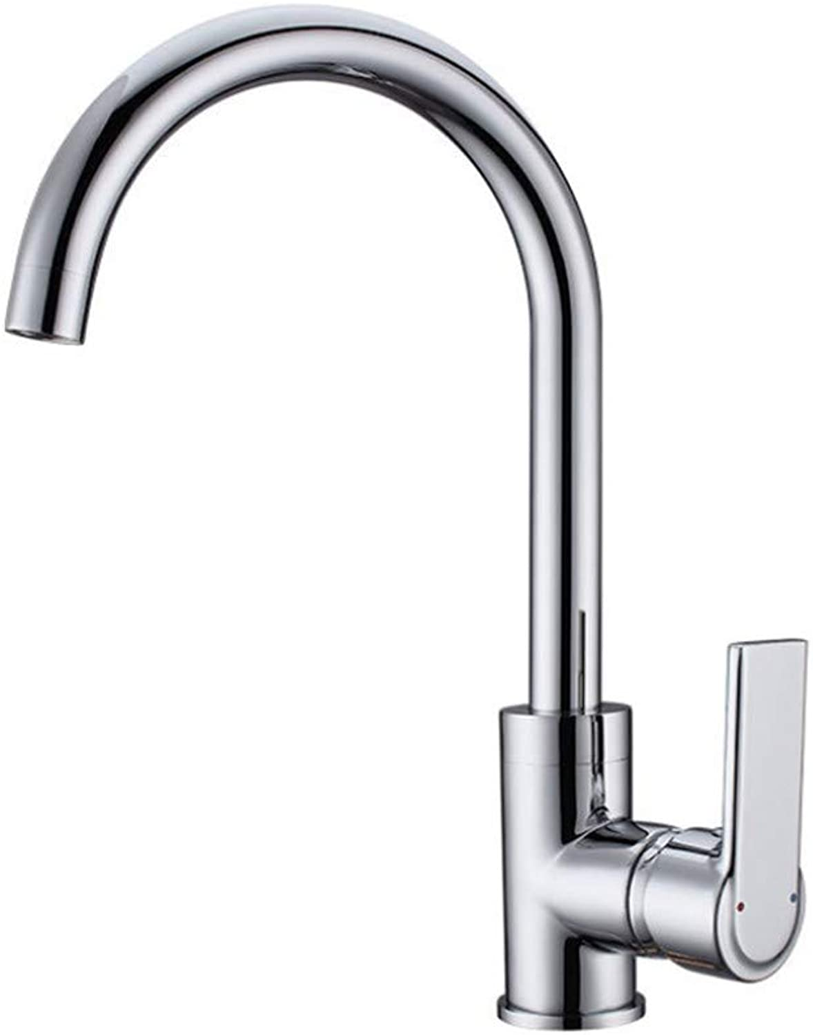 Kitchen Sink Taps Bathroom Taps Copper Plated Chromium Cold and Hot Kitchen Sink Faucet redary Dishwasher Basin Faucet
