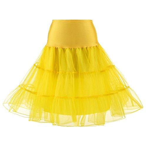 Meclelin Petticoat Reifrock Unterrock Underskirt Crinoline für Rockabilly Kleid