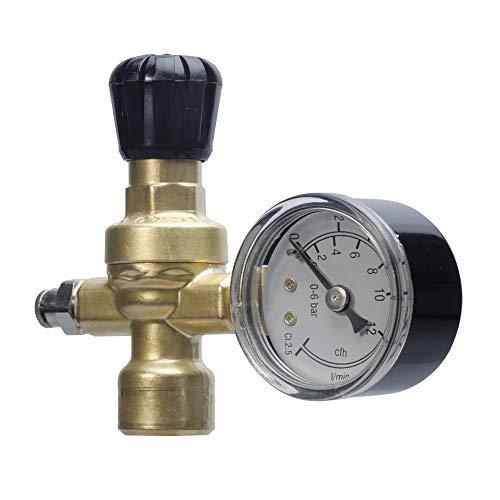 Oxyturbo - Reductor de presión de CO2 / Argon / Mix soldadura Oxyturbo bombonas desechables Art.215300 casquillo M10 x 1RH para soldadores
