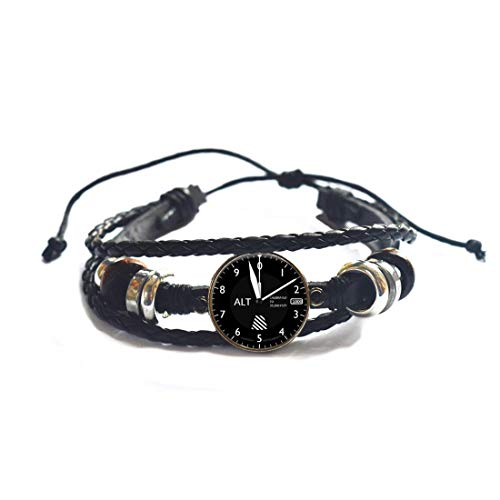 Altímeter-Pilot Jewelry-Glass Bracelet - Brazalete de instrumentos de aviones, regalo de Navidad,...