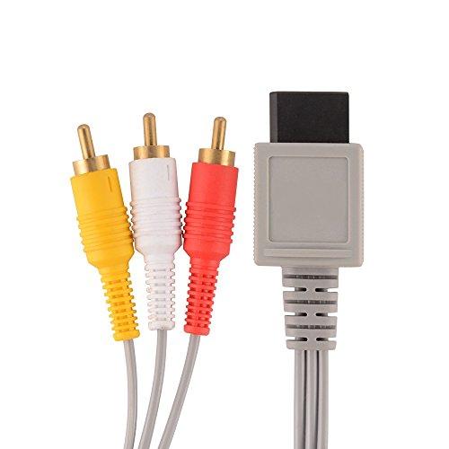 Link-e : AV Kabel Mit Vergoldeten Anschlüssen Kontakte Für Nintendo Wii Konsole (Audio/Video, RCA, TV)