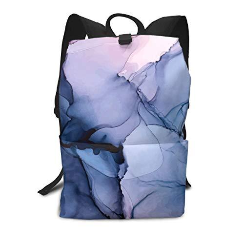 Zainetto unisex, accattivante, con inchiostro alcolico, per pittura, università, studenti, librerie, viaggi, computer, quaderni, scuola, all'aperto, borsa a tracolla