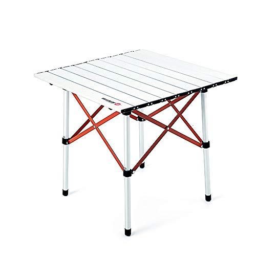 NNDQ Campingtisch Faltbare tragbare Aluminiumtische, kompakter Roll-Up-Tisch, mit Tragetasche, für Outdoor-Camping, Wandern, Picknick, Rucksackreisen
