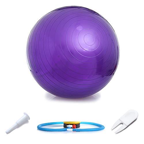 Wopohy - Pelota de gimnasia (PVC, para fitness, pilates, fisioterapia), morado, 55 cm