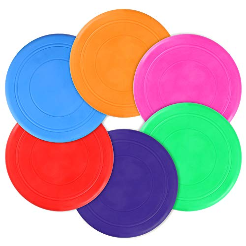 butterfunny 12 Pack Colorful Silicone Flying Discs Toy Outdoor Playing Lawn Game Disc for Kindergarten Teaching