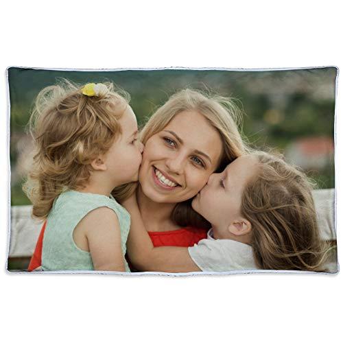 LolaPix Foto Decke mit Eigenem Bild mit Design.Verschiedene Größen zur Auswahl. Einseitig personalisierte Fleecedecke. Material nach Oeko-Tex Standard Zertifiziert. 190x125cm. Wärmende Decke