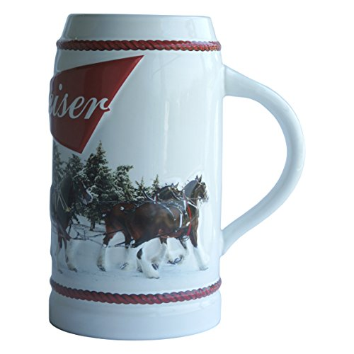 Budweiser Boelter Brands Holiday Stein, 31-Ounce, 31 oz, 2016 White
