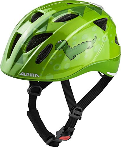 ALPINA XIMO FLASH Fahrradhelm, Kinder, green dino, 45-49