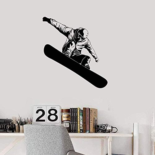Wall Stickers Snowboarder Winter Extreme Sports Snowboarding Home Decor Boys Room Decal Diy 52X57Cm