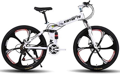 PARTAS Viajes conveniencia conmuta - Bicicleta Plegable, Bicicletas de montaña, Hard Tail Bicicleta, de 26 Pulgadas 21/24/27 Velocidad de Bicicletas, Apto for Jinetes avanzados y Principiantes