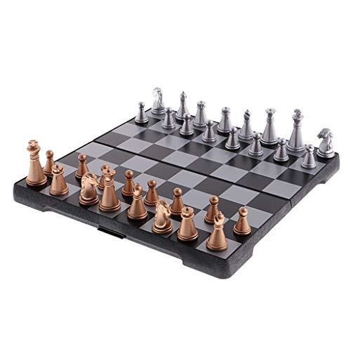 ARLTArlt Torneos de plástico de ajedrez magnético de Viaje portátil, Conjunto de ajedrez, Duradero