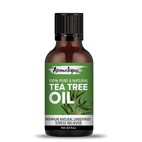 Aromatique Tea Tree Oil For Face 100% Pure,Best Therapeutic Grade Tea Tree Essential Oil for Skin Acne, Hair -15ml
