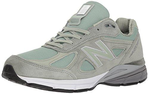 New Balance Men's 990v4 Running Shoe, Silver Mint/White, 10.5 D US