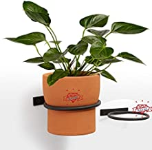 NAYAB Wall Mounted 3 pc Pot Ring Planter, Heavy Rim, Easy to Install -5.5 inch