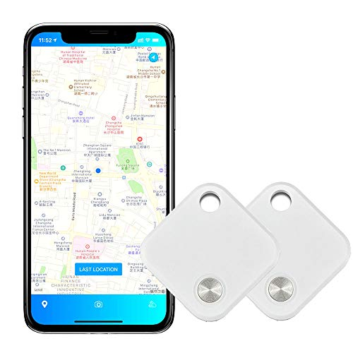 Bluetooth 4.2 Buscador de Llaves Rastreador de Mascotas Localizador de Llaves Remoto inalámbrico Carteras de teléfono Alcance de 15 m Dispositivo antipérdida APLICACIÓN Gratuita (2 Piezas)