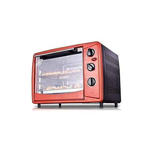 Sysyrqcer Mini Oven | 30 Lliters |Toaster Oven | Electric Oven | Oven | Small Oven | Double Glass Door | Removable Crumb Tray | Interior Lighting | 3D Recirculation | 1500 Watts