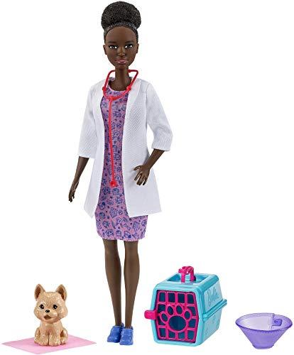 Barbie Pet Vet Morena Muñeca (30,40 cm) y figura de perro - ¡Puedes ser cualquier cosa!