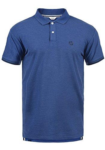 !Solid BenjaminPolo Herren Poloshirt Polohemd T-Shirt Shirt Mit Polokragen, Größe:L, Farbe:Faded Blue Melange (1542M)
