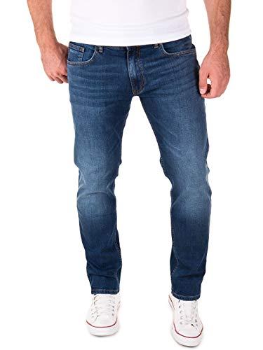 Yazubi Jeans Herren Akon Slim - Jeans Hosen für Männer - dunkelblaue Denim Stretch Hose Jeanshose Regular, Blau (Dark Denim 194118), W33/L30