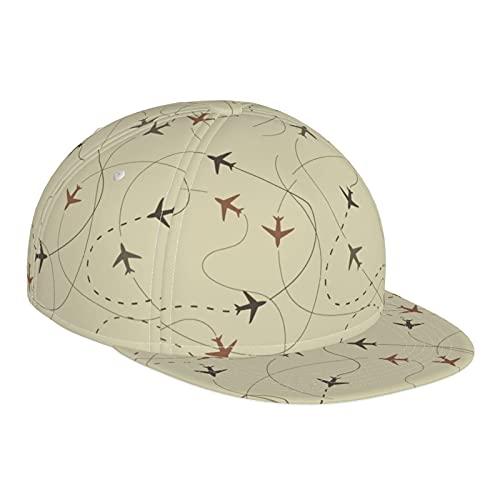 GCDD Gorra de béisbol plana 3D de viaje avión de aire ajustable Snapback visera plana Gorras deporte papá sombrero camionero sombreros para hombres mujeres negro