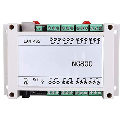 Restablecimiento Retorno de estado Blanco/negro Controlador de relé RJ45 Ethernet estable de 8 canales Tamaño mini AC 250V 10A TCP/IP Tablero de control remoto con estuche(black)