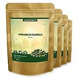 Sanutra Spirulina-Chlorella-Presslinge 4000 x 250 mg Mix-Tabletten, ohne Zusätze, rückstandskontrolliert, 4 x 250 g