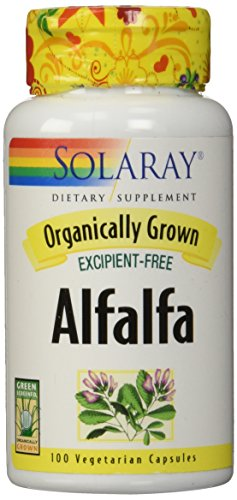 Solaray Organic Alfalfa Supplement, 430 mg, 100 Count