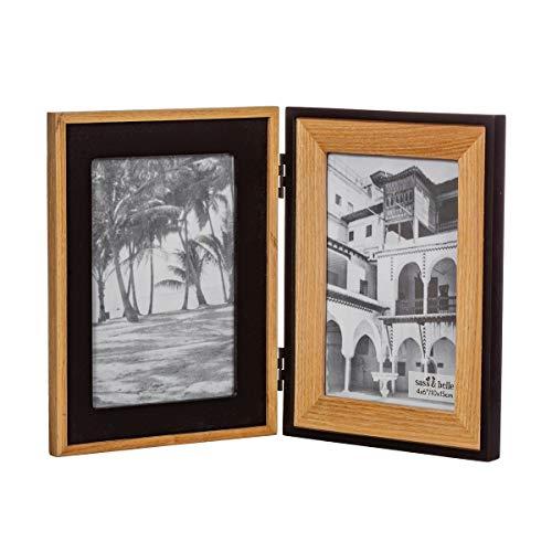 Sass & Belle - Cornice doppia in legno naturale e nero