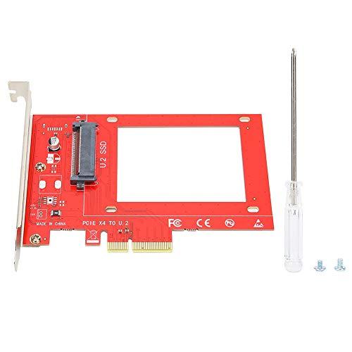 Annadue Tarjeta Vertical PCI-E para Samsung, Disco Duro SSD NVMe U.2 de 2.5 Pulgadas SF8639 a Tarjeta Vertical PCIe 3.0X4, no Requiere Fuente de alimentación.