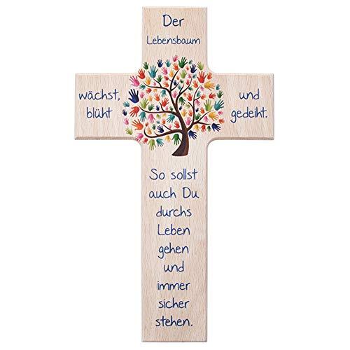 """FRITZ COX® Kinderkreuz: """"Lebensbaum"""" - TOPSELLER zur Geburt, Taufe, Kommunion"""