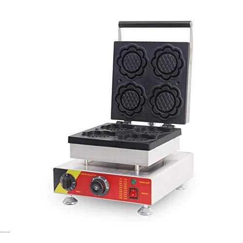 Máquina de gofres Belga de 1500 W máquina de gofres eléctrica con Control de Temperatura y Tiempo para gofres Dorados esponjosos Adecuada para restaurantes panaderías y refrigerios famili